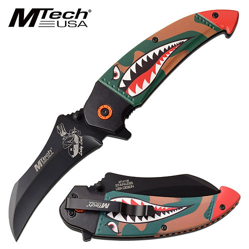 """8.25"""" Overall Spring Assisted Knife"""