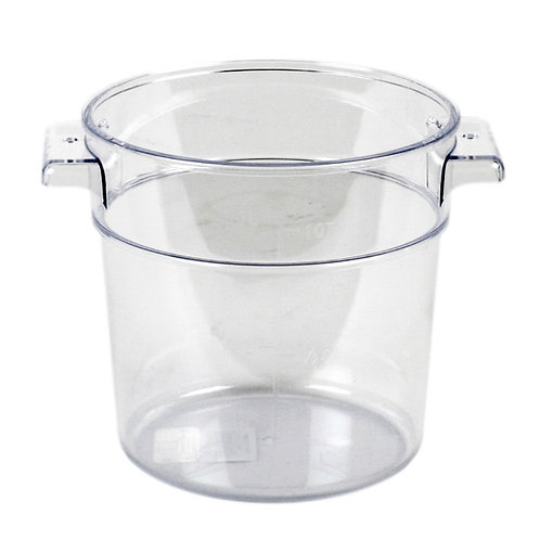 1QT Round Food Storage Container, PC, Clear