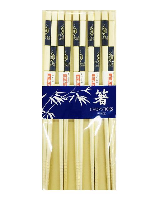 5PR Bamboo Chopsticks Blue/Gold Fish