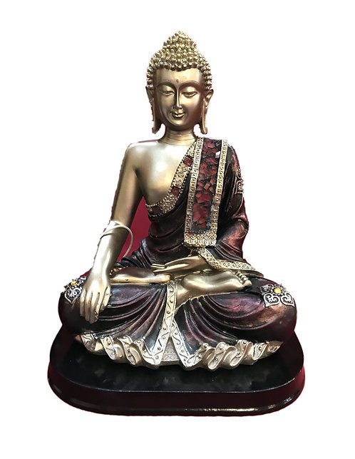 9.75'' High Black  Moziac Buddha