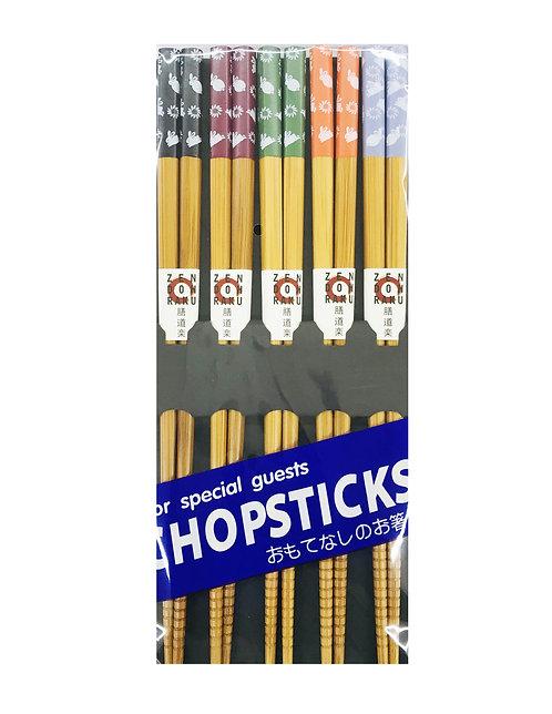 5PR Bamboo ChopsticksRabbits
