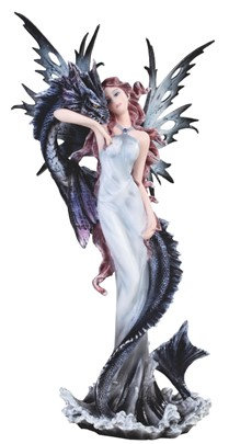 "Black Fairy with Serpent , 10 1/2"" high"