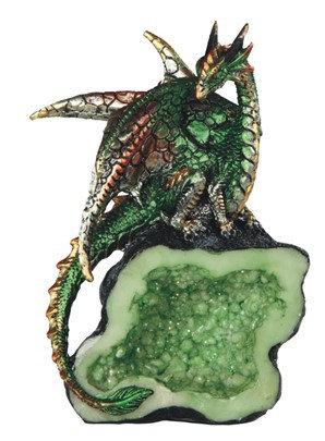 "5 1/2"", Green Dragon on Crystal"