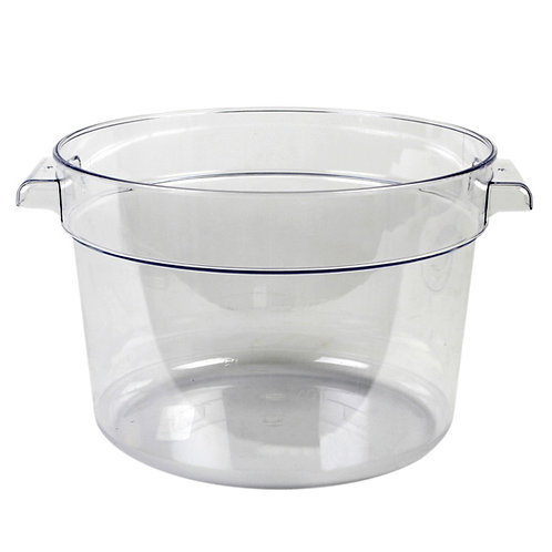12QT Round Food Storage Container, PC, Clear