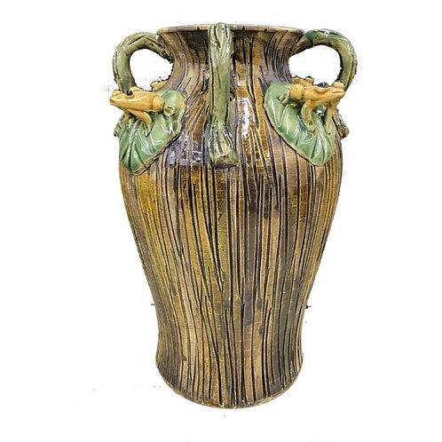"""8.5"""" Ceramic Frog Vase"""