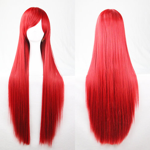 Red Straight Wig Synthetic Long