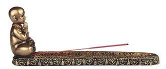 "9 1/2"" Wide, Little Buddhist Monk Incense Burner"