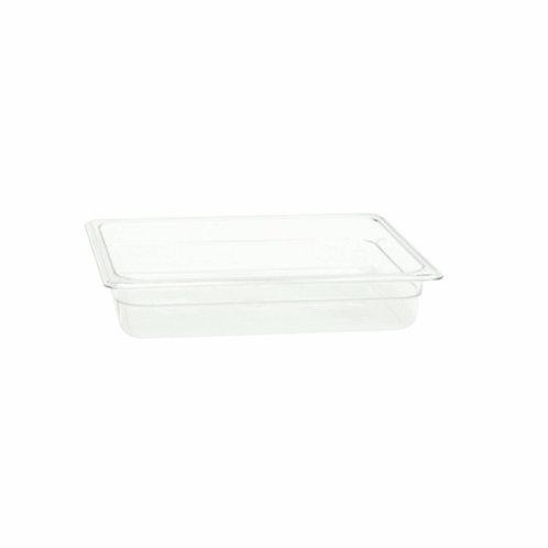 "Half Size 2 1/2"" , Deep Polycarbonate Food Pan"