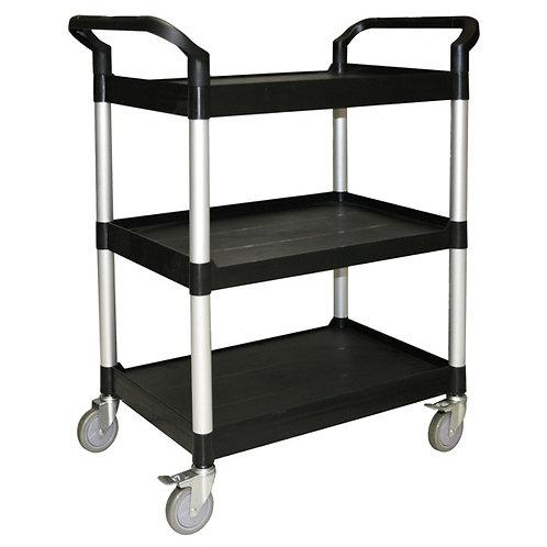 Small 3-Tier Bus Cart Black