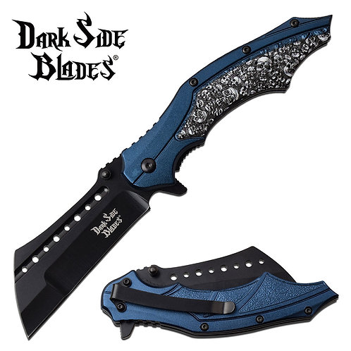 "8"" Overall Spring Assisted Knife Blue"