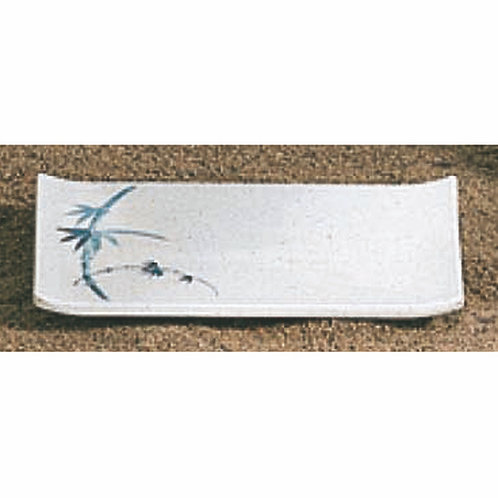 13.5cm , Blue Bamboo Square Plate
