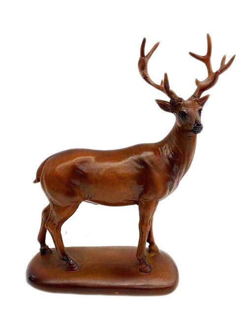 "6"" Wooden Peaceful Deer"