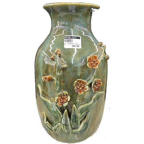 "10"" Ceramic Vase W/Flower"