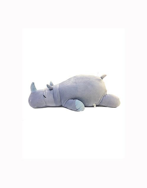 19″ Mochy Plush Toy - Lying Rhinoceros