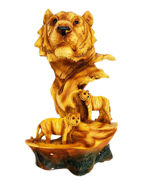 """12.25"""" Tiger Scene Statue"""