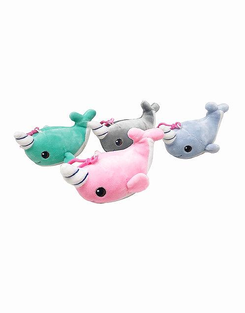 "3"" Unicorn Whale Plush Key chain"
