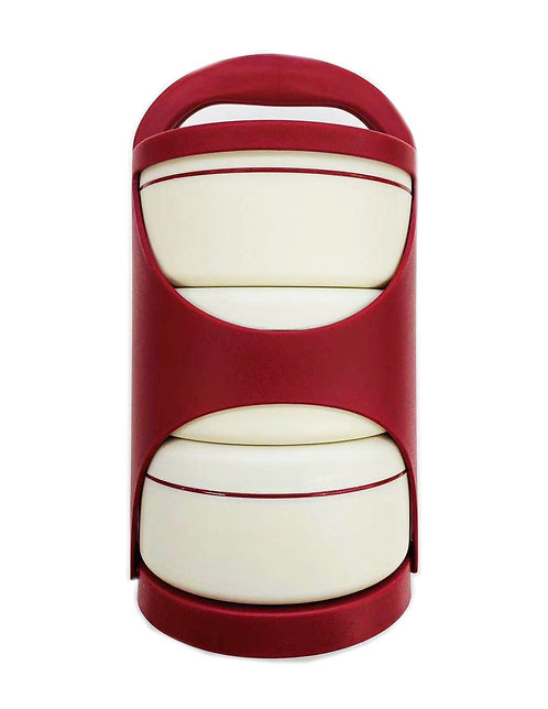 3 Section Red Lunch Box