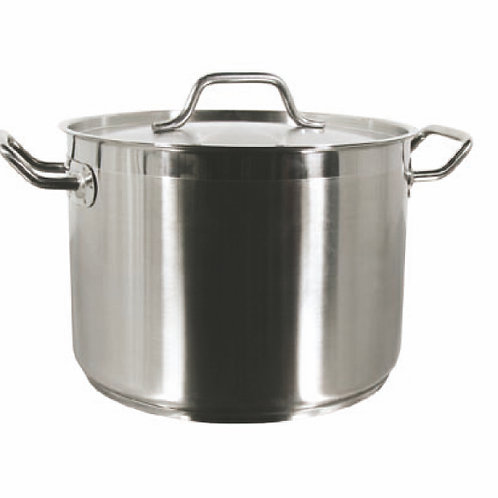 32QT S/S Stock Pot W/ Cover