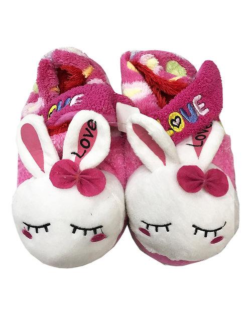 24CM Rabbit W/Bow Slipper