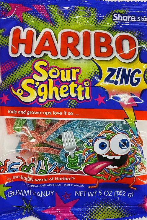 5oz Haribo Sour S'ghetti Gummy