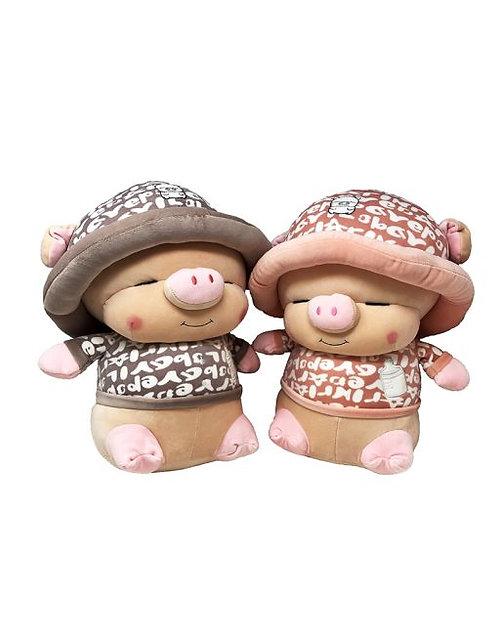 10.5″ X 14.5″ Mochy Plush Toy - Pig Mashimaro