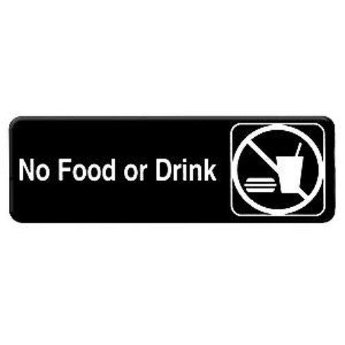 "9"" X 3"" , No Food Or Drink"