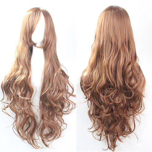 Light Brown Curly Synthetic Long