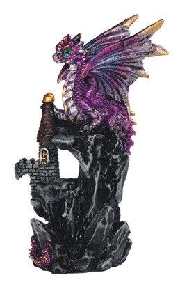 "4 1/4"", Purple Dragon on Castle"