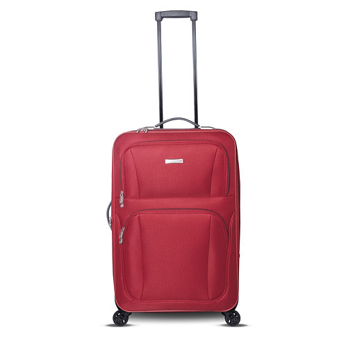 "32"" 4 Wheels Fabric Luggage Red"