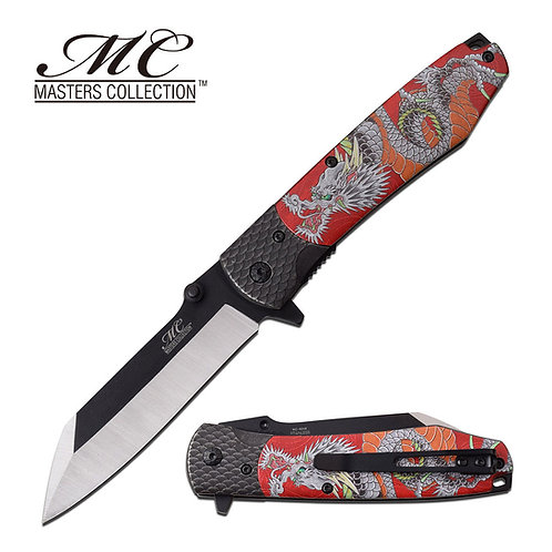 "8"" Overall Spring Assisted Knife Red"