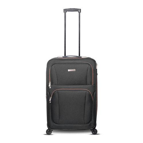 """24"""" 4 Wheels Fabric Luggage Grey"""
