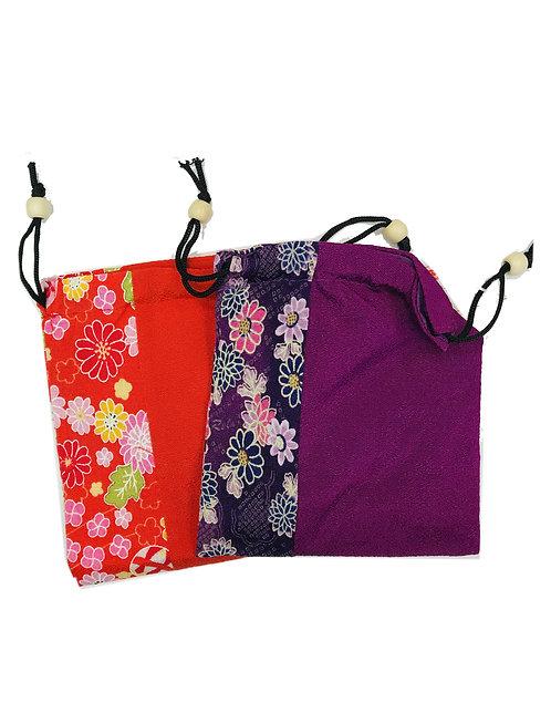 Textile Pouch Bag Japanese Design