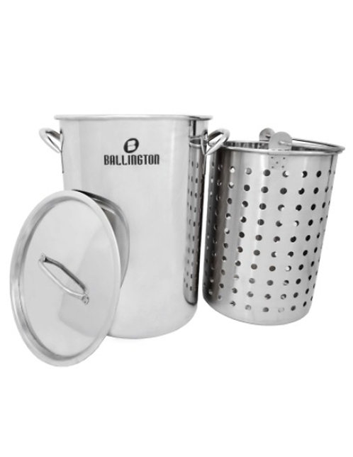 42QT Stainless Steel Steamers W/ Basket