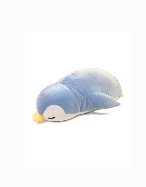 "19"" Mochy Plush Toys- Lying Penguin Blue"