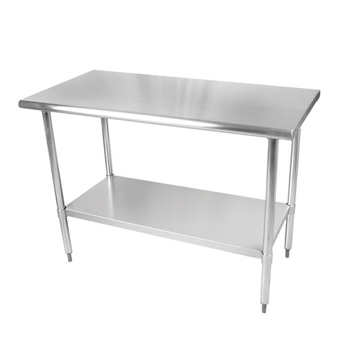 "30"" X 72"" X 35 , 430 Stainless Steel Worktable, Flat Top"