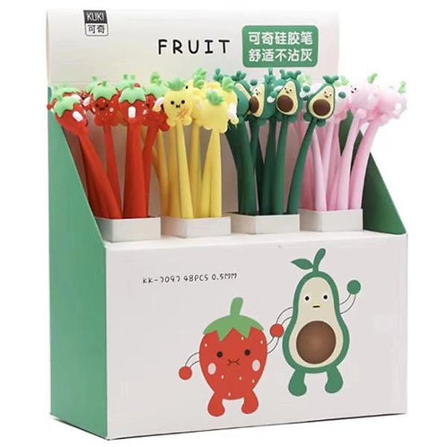Silicone Fruit Party Gel Pens
