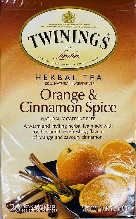 1.41oz Twinings Orangeand Cinnamon SpiceTea