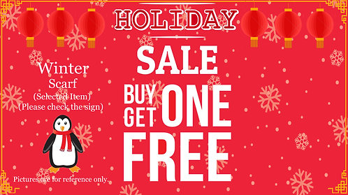 Buy One Get One Free For Selected Winter Scarf