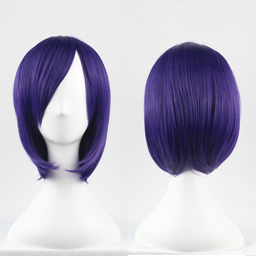 Purple Straight Wig Synthetic Short