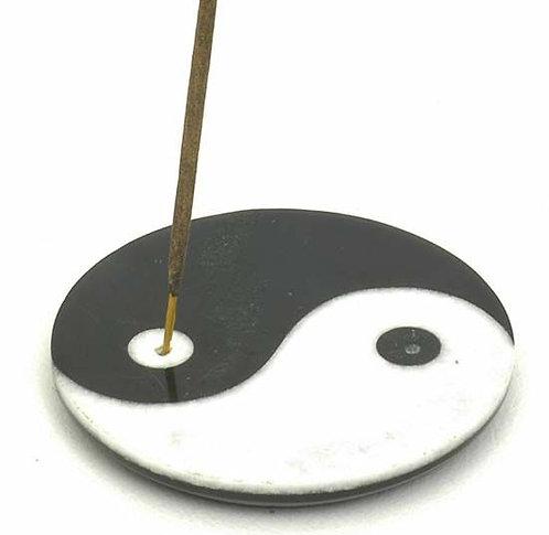 "4"" Incense Burner Stone Yin-Yang"
