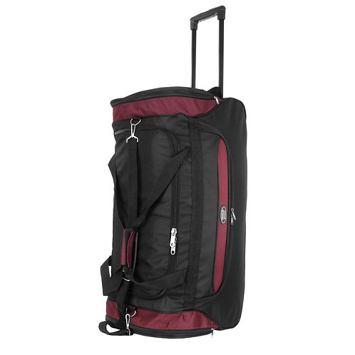 "30"" Dufflebag W/ Wheels and Handle - Burgundy"