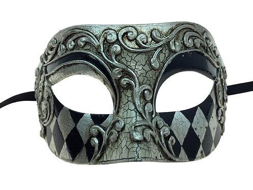 Venetian Eye Mask Silver
