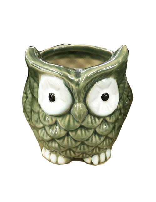 Owl Bamboo Vase