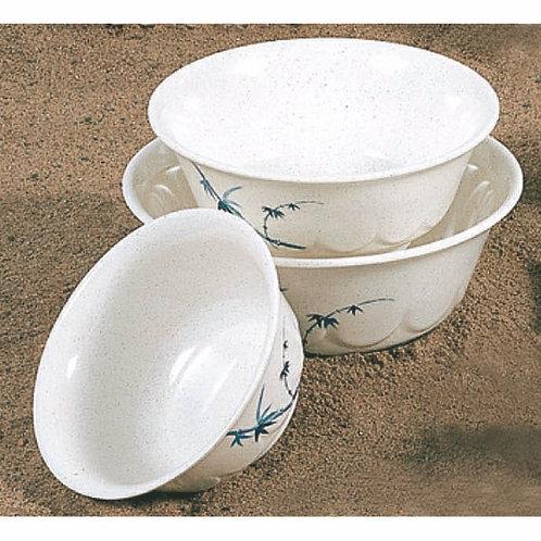 Scalloped Bowl, Blue Bamboo