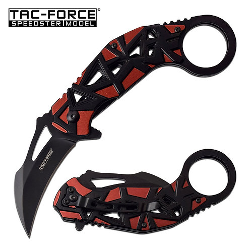 """7.5"""" Overall Spring Assisted Knife Red"""