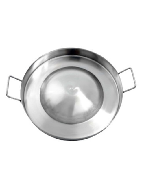 """22"""" Stainless Steel Comal/Cazos Convex Higher Side"""