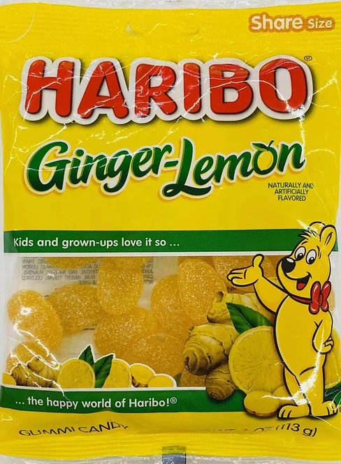 4oz Haribo Ginger-Lemon Gummy