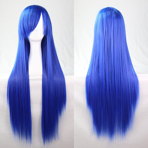 Royal Blue Straight Wig Synthetic Long