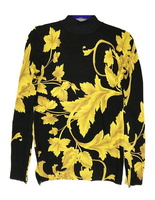 Women Stretch Sweater W/ Flower Style 4