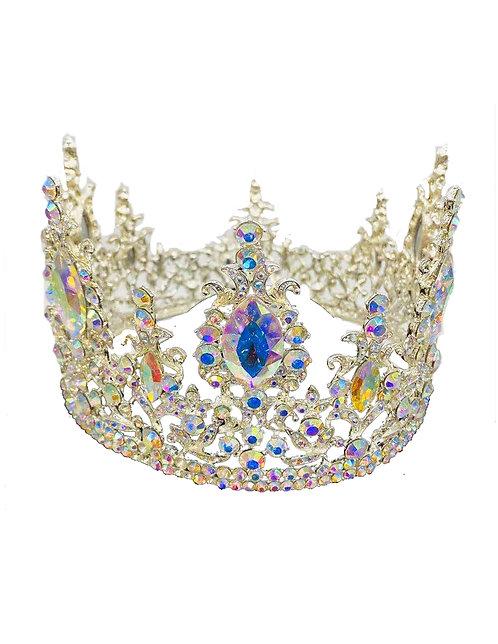 Tiara Silver Rhinestones & Colorful Crystal No.#2